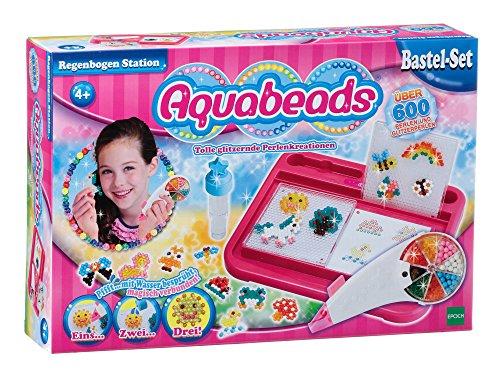 Aquabeads 79318 - Regenbogen Station, Bastelset für Kinder (Geburtstag-platten Platz)
