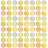 288 Pieces 72 Designs Gold Nail Vinyls Nail Stencil Sticker Sheets Set For Circular Hollow Nail Art Design, 24...