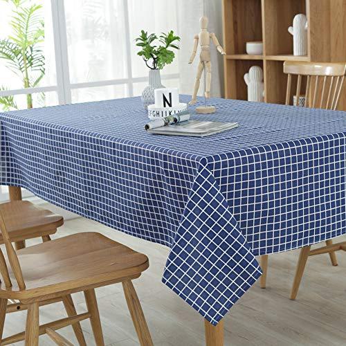 DOTBUY Tischdecke Garten, Weihnachten Gitter abwaschbar Tischtuch Leinentischdecke Pflegeleicht Fleckschutz Farbe & Größe wählbar