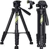 Endurax 66' Video Camera Tripod for Nikon Canon, DSLR Cameras Stand Tall Tripods Lightweight Aluminum with Universal…