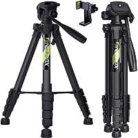 Endurax 167 cm / 66 inches Video Kamera Stativ für Canon Nikon Leichte Aluminium Reise DSLR Kameraständer mit Universal…