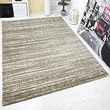 Teppich Hochwertig Schlaf Wohnzimmer Beige Modern Dichter Hoher Flor Mehrfarbige Melierung mit Used Optik 160x230 cm