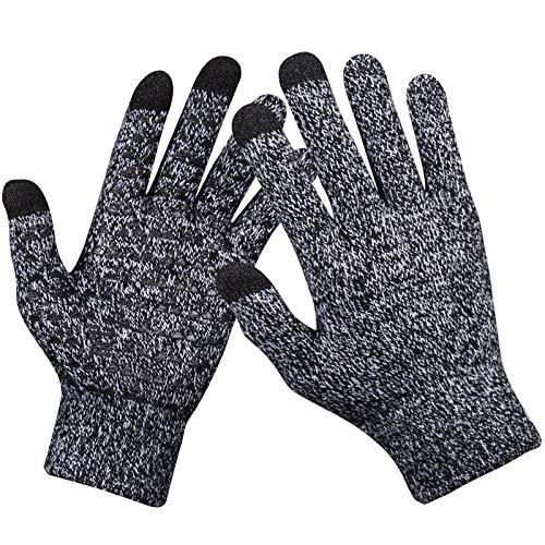 hongyu Winter Sport Touchscreen Handschuhe, SMS Handschuhe mit Touchscreen-Technologie für Smartphone & Touchscreen-Geräte (schwarz), HONGYU-TouchScreen gloves-Gray