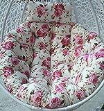 ZOUDIN Hängende Ei Hängematte Stuhl Kissen Ohne Stehen,Kissen Für Schaukel Sitz Dicke Nest Hängen Stuhl Wieder Mit Kissen-n D105cm(41inch)