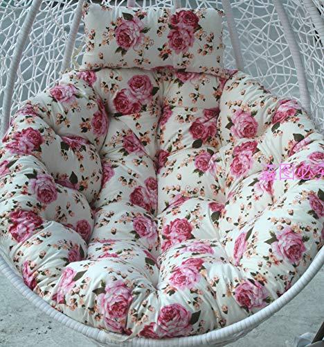 ZOUDIN Hängende Ei Hängematte Stuhl Kissen Ohne Stehen,Kissen Für Schaukel Sitz Dicke Nest Hängen Stuhl Wieder Mit Kissen-n 140x110cm(55x43inch) (Innen-hängematte Stehen)