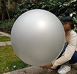 GuassLee 5 palloncini giganti 36 pollici Lattice rotondo grande palloncino grandi palloncini spessi servizio fotografico / compleanno / festa di matrimonio / festival / evento / decorazioni di carnevale argento