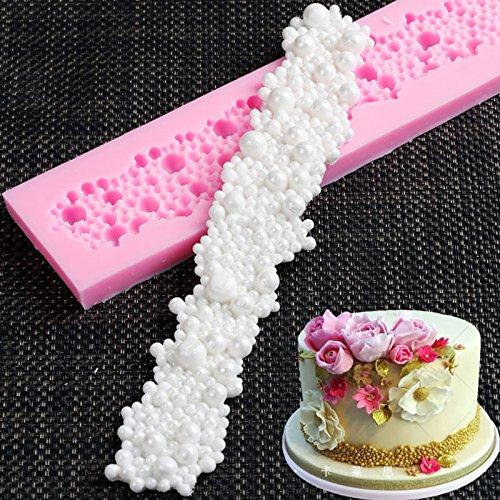Flower Border Silikon Form Fondant Mould Kuchen dekorieren Tools Schokolade gumpaste Formen, Sugarcraft, Küche Zubehör (Gumpaste Cutter Tool)