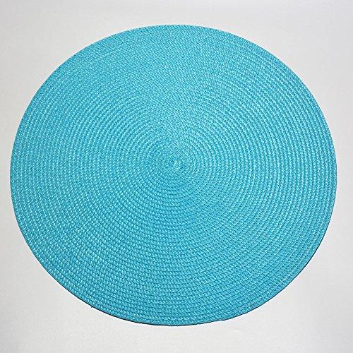 Scf2017 tressé en plastique polypropylène Sets de table, Bleu ciel, Lot de 4