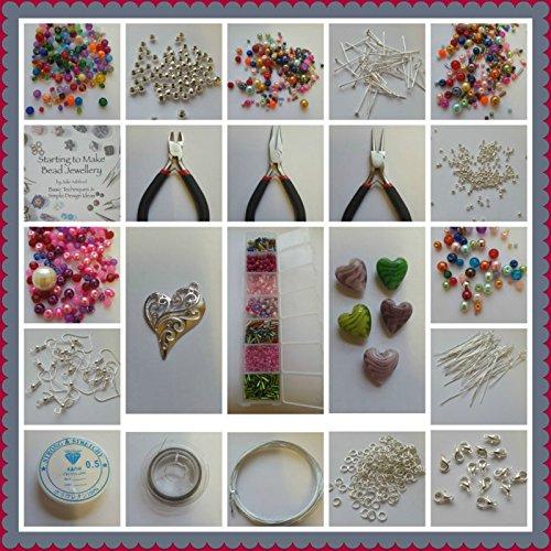 rainbow-7-creations-set-per-creare-gioielli-fai-da-te-con-perline-inserti-a-perlina-attrezzi-e-manua