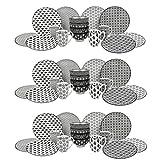 vancasso, Haruka Geschirrservice aus Porzellan, 48 TLG. Set Rund Kombiservice für 12 Personen, Beinhaltet Becher, Schalen, Dessertteller und Essteller
