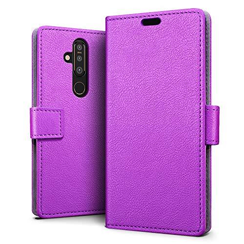 SLEO Hülle für Nokia 6.2 Hülle,PU lederhülle [Vollständigen Schutz] [Kreditkartenfach] Flip Brieftasche Schutzhülle im Bookstyle für Nokia 6.2- Lila