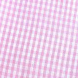 0,5m Vichy-Karo groß 5mm Stoff rosa/ weiß Meterware 100%