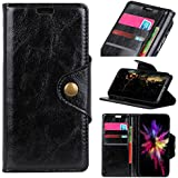 HTC U12 Life Case, Danallc Luxury PU Leather Wallet Flip Protective Stand Case Cover With Card Slots And Stand For HTC U12 Life Black