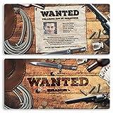 (30 x) Einladungskarten Geburtstag Wanted Western Kopfgeld Einschulung Einladungen