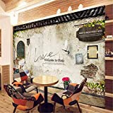 Mural PapelPintado TelaNoTejidacustom Photo Wallpaper Murales Classic Old Street Wall Photo Paris Kitchen Cafe Restaurante Telón De Fondo Papel De Pared Papel De Parede 3D, 400 * 280 Cm