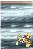 Sigikid Semmel Bunny Moderner Markenteppich, Polypropylen, Beige, 150 x 80 x 1.3 cm