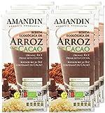 Amandin Bebida de Arroz con Cacao - Paquete de 6 x 1000 ml - Total: 6000 ml