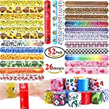Best Heart To Heart Gifts For Three Year Olds - GeMoor 52 Pcs Slap Bracelets Slap Bands Review
