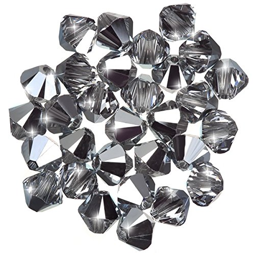 Swarovski bicono xilion (001) Crystal Comet Argento 6�mm perline Pk30