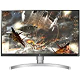 LG 27 inch 4K UHD LED Monitor with VESA Display HDR 400, Silver White - 27UL650-W