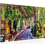 Runa Art Bilder Toskana Italien Wandbild 120 x 80 cm Vlies - Leinwand Bild XXL Format Wandbilder Wohnzimmer Wohnung Deko Kunstdrucke Bunt 3 Teilig - Made IN Germany - Fertig zum Aufhängen 607731a