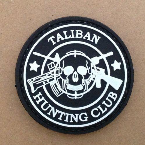 Taliban Hunting Club Airsoft Klett Anhänger Patch Schwarz