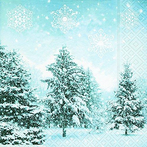 viette 33 x 33 cm (Silent winter) Schneelandschaft Weihnachtsbaum Weihnachten Winter Schnee Tiere Wald Schneemann Merry Christmas ()
