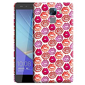 Theskinmantra Colorful Lips back cover for Huawei Honor 7