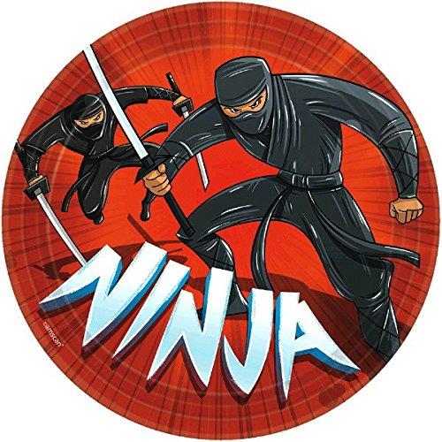 (Amscan 55158723cm Ninja Pappteller)