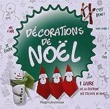 Décorations de Noël : 1 livre, de la feutrine, des stickers de Noël