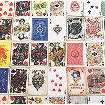 Stoff Meterware Baumwolle Spielkarten Kartenspiel Herz