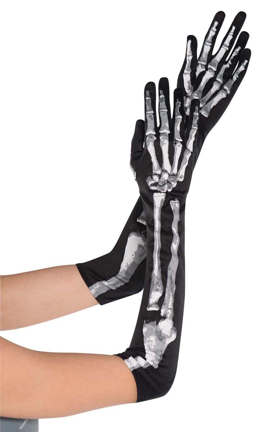 Amscan – Guantes para disfraz con diseño esqueleto, talla única (841439-55)