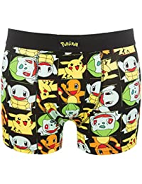 TruffleShuffle Mens Pokemon Pikachu and Friends Boxer Shorts
