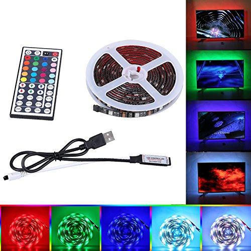 """Preisvergleich Produktbild LED TV Hintergrundbeleuchtung,  SPARKE 2x1.64ft+2x3.28ft USB Angetrieben RGB Wasserdicht Led Streifen-Beleuchtung ändern Farbwechsel Mood Licht Kit Für 50 """"- 70"""" TV-Bildschirm und PC-Monitor(Schwarz)"""