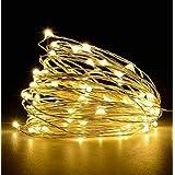 tu casa DW-440-USB-Led Copper Fairy Light, Waterproof(10 MTRS-100 Bulbs) Nickel Finish -Warm White