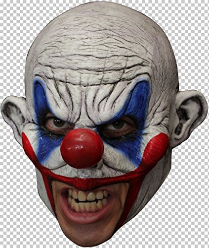 Clooney Clown Adult Latex Costume Chinless Mask