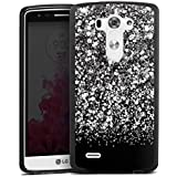 LG G3 Silikon Hülle Case Schutzhülle Glitzer Glitter Muster