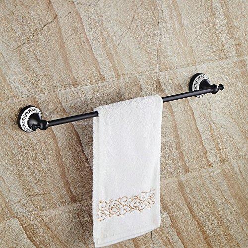 Hiendure® 60cm Messing Wandhalterung Bad Toilette Handtuchhalter Handtuch Regal, Öl eingerieben Bronze