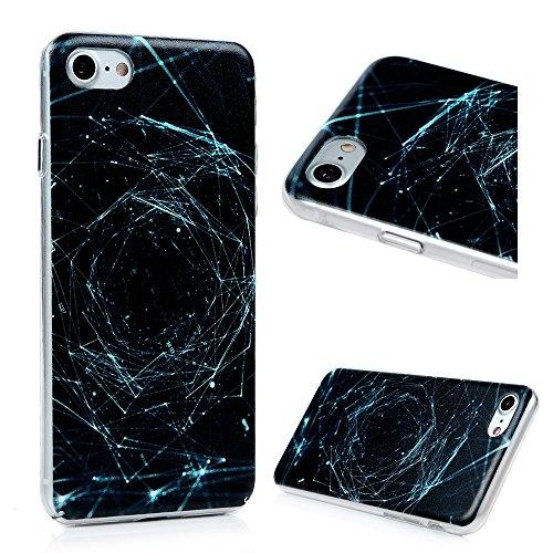 """Lanveni Coque Apple iPhone 7(4.7"""") - [PC Plastique] Housse Cover Case de Protection Complètement [Antichoc][Anti-poussière][Ultra fin Léger Dessin Coloré] - Dentelle Time Tunnel"""