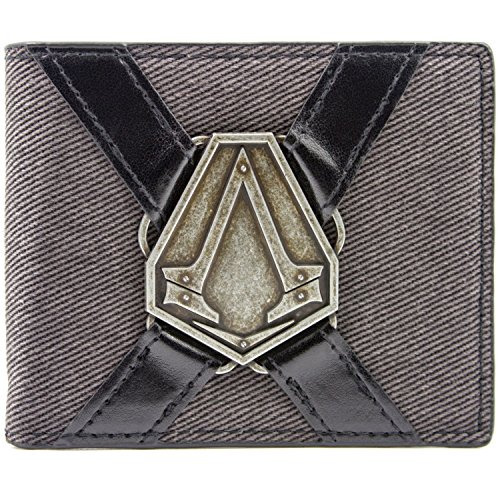Ubisoft Assassins Creed Syndicate Silver Symbol Grau Portemonnaie (Kostüm Connor Cosplay)
