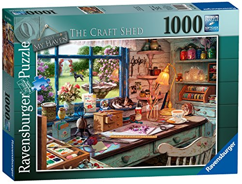 Ravensburger - Puzzle Game by 1000 Pieces, The Shed Office (19590)