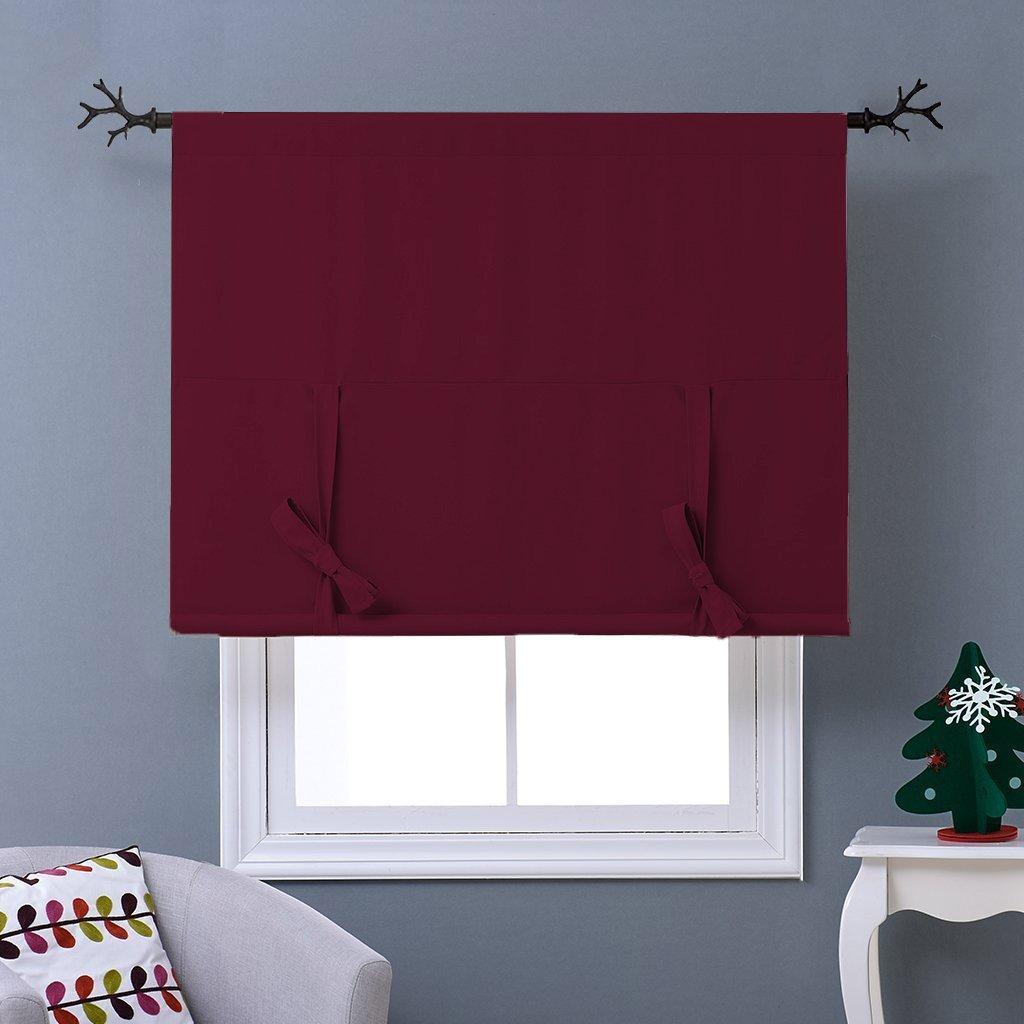 Cloth Fusion Valance Blackout Window Curtains Door Window