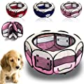 CellDeal Folding Fabric Pet Play Pen Puppy Dog Cat Rabbit Guinea Pig Playpen Run Cage