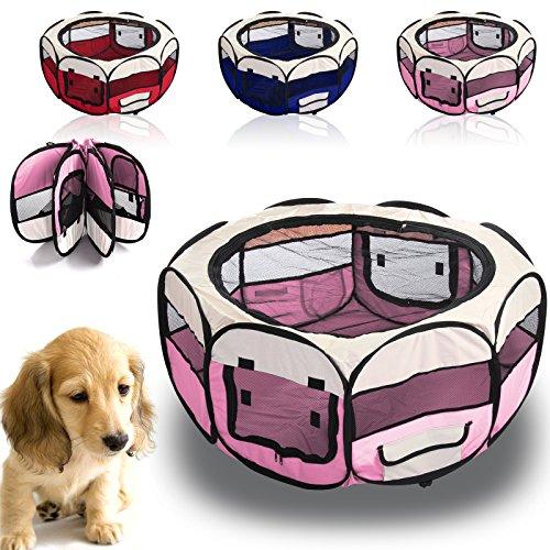 CellDeal-Folding-Fabric-Pet-Play-Pen-Puppy-Dog-Cat-Rabbit-Guinea-Pig-Playpen-Run-Cage