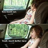 Sonnenschutz Auto, Autoscheiben Sonnenschutz von Relarr 2er-Set Sonnenblenden Auto Baby, Schutz vor schädlicher UV-Strahlung für Seitenfenster, Kinder Autosonnenschutz mit Saugnäpfen