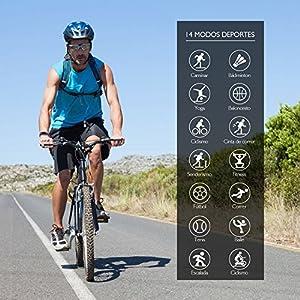 Pulsera Actividad Inteligente con Pantalla Color, BANLVS Pulsera Actividad con 14 Modos Deportes y Impermeable 68 Monitor Ritmo Cardíaco Calorías y Sueño podómetro Pulsera Deportiva para IOS y Android