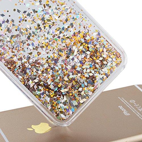 Coque Pour Iphone 7 4.7 Pouce, SKYXD Fluide Liquide Coque Ultra Slim SOUPLE Étoiles Étui Housse Bling Glitter Sparkles Coque Liquid Crystal Premium Back Case Transparente Coque Pour Iphone 7 4.7 Pouce Color#11
