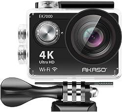 AKASO EK7000 Wi-Fi Ultra HD Waterproof Sports Action Camera (Black)