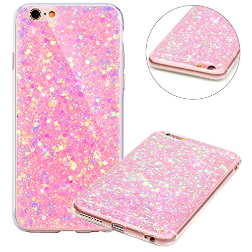 custodia iphone 6 rosa brillantini