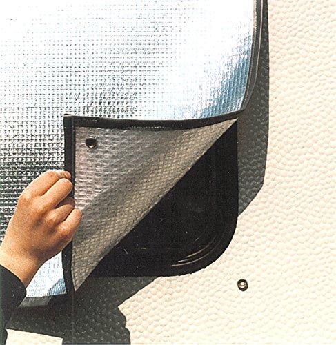 Preisvergleich Produktbild ORTEC 129x60 cm DUO-FIX Thermomatte Thermo Iso Matte Wohnwagen Caravan Fenster